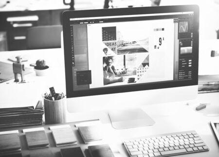 entwurf: Design Studio Idee Kreativität Holzpalette Dekoration Konzept Lizenzfreie Bilder
