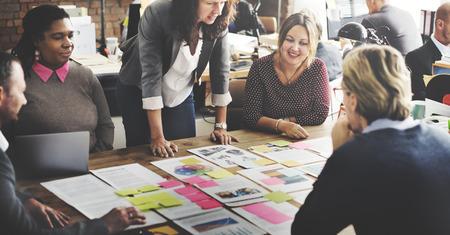 비즈니스 사람들 회의 회의 토론 작업 개념 스톡 콘텐츠