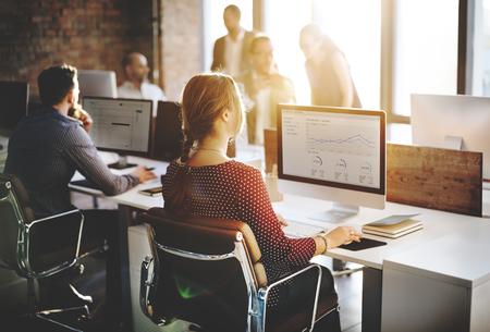 Biznes Ludzie Analiza Myślenie finansowania wzrostu Success Concept