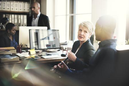 失語症企業の基づいたチームワークの概念 写真素材