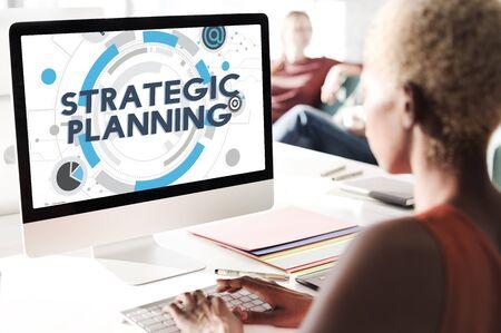 plan de accion: Concepto Acción Plan de Proceso de Planificación Estratégica Foto de archivo