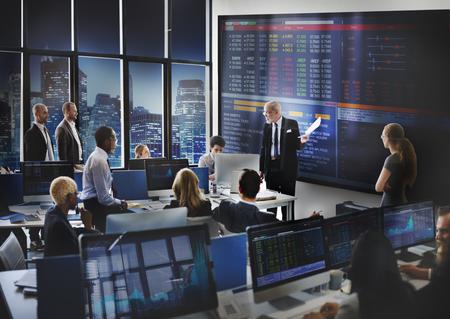 Business Team Entrepreneur Trading Investment Concept Banque d'images - 53712481