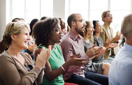 Publiek Applaud Clapping Happines Waardering Training Concept Stockfoto