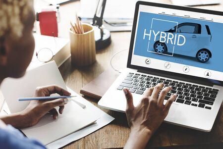 hybrid: Hybrid Ecology Technology Save Energy Concept