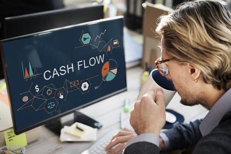 web marketing: Cash Flow Finance Economy Revenue Funds Investment Concept