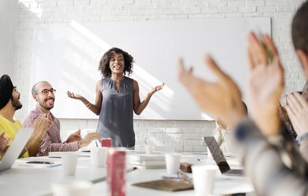 Menschen Treffen Konferenz Diskussion Brainstorming Konzept