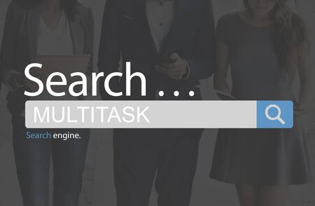 simultaneously: Multitask Tasks Multiprocessing Simultaneously Concept Stock Photo