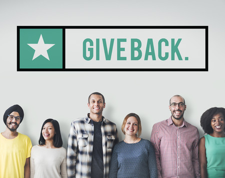 Give Back Helping Donation Charity Giving Concept Imagens