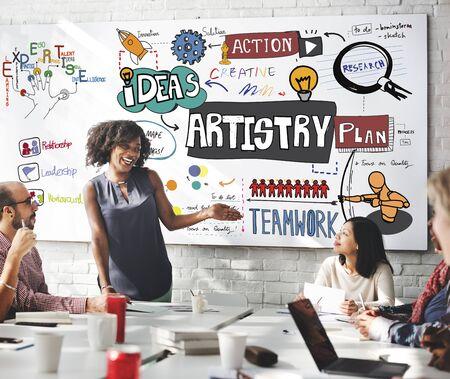 artistry: Art Artist Artistry Craft Talent Creativity Concept