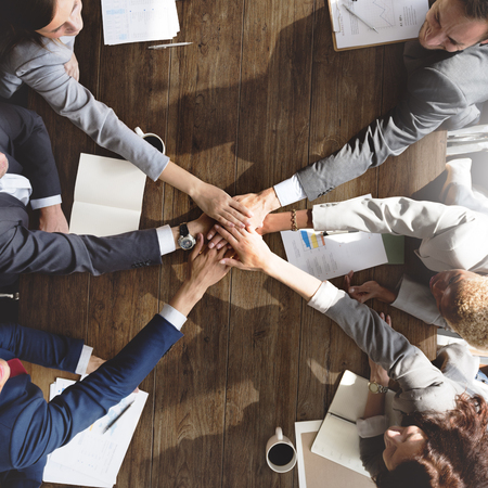 Business Team Support Join Hands Support Concept Stock Photo - 53750325