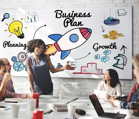 boardroom: Business Plan Strategy Vision Objective Planning Concept