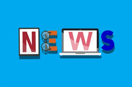 news update: News Broadcast Information Report Update Communication Concept Stock Photo