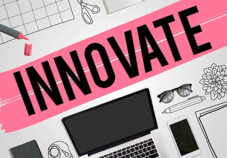 innovate: Innovate Innovation Invention Development Vision Concept Stock Photo
