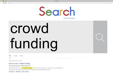 crowd source: Crowd Funding Imvestment Funding Financial Concept Stock Photo