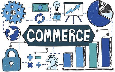 consumerism: Commerce Marketing Business Consumerism Concept Stock Photo