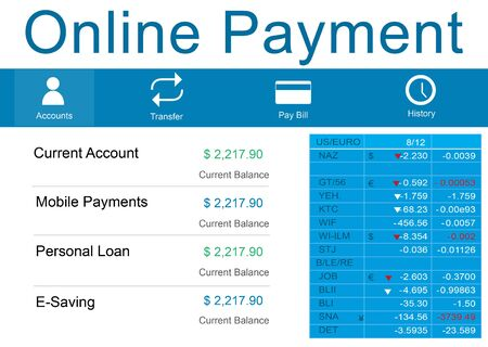 paying: Online Payment Purchase Merchandise Buying Paying Concept