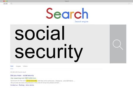 seguridad social: Social Security Benefit Pension Welfare Retirement Concept
