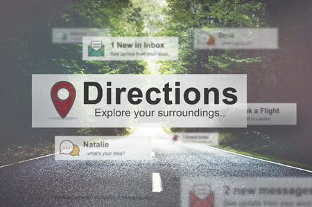 road trip: Direction Directional Goal Way Motivation Progress Concept