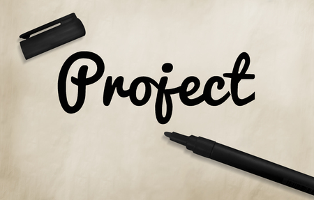 project management: Project Management Planning Ideas Concept