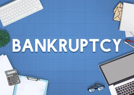 overdrawn: Bankruptcy Banking Loss Recession Debt Concept