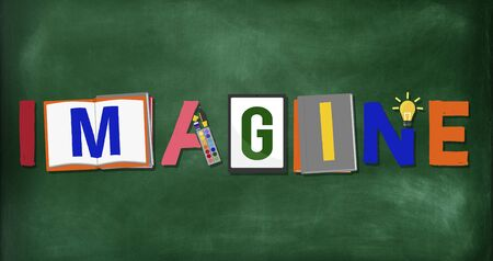 expect: Imagine Planning Creative Imagination Concept Stock Photo