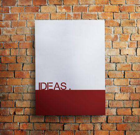Ideas Idea Vision Design Plan Objective Mission Concept Stock Photo