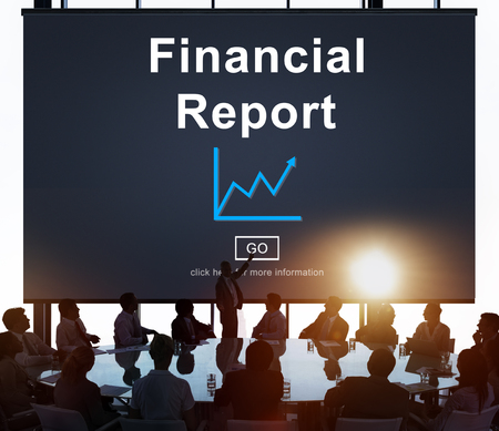 credit report: Financial Report Money Cash Growth Analysis Concept