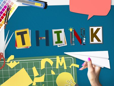 skill: Think Thinking Ideas Skill Start up Concept