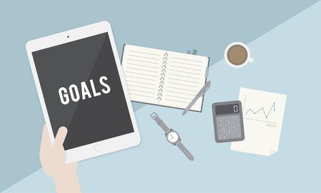 hopeful: Goals Aspiration Target Vision Confidence Hopeful Concept