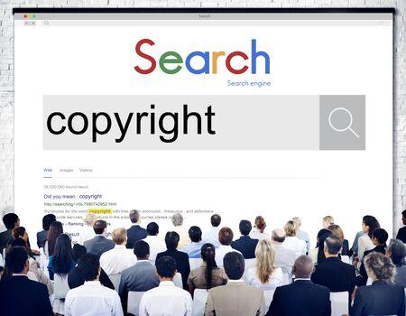 brand identity: Copyright Brand Marketing Identity Concept Stock Photo