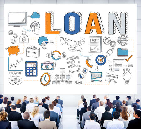 loaning: Loan Finance Economy Debt Money Banking Concept