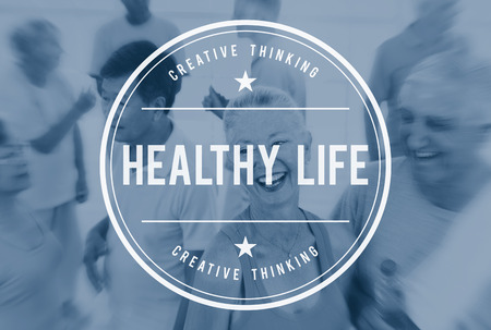 active adult community: Healthy Life Living Nutrition Active Excercise Concept
