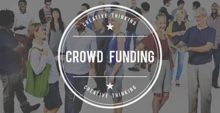Crowd Funding Imvestment Funding Financial Concept Stock Photo