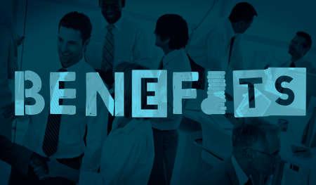 Benefits Advantage Assests Bonus Wages Concept