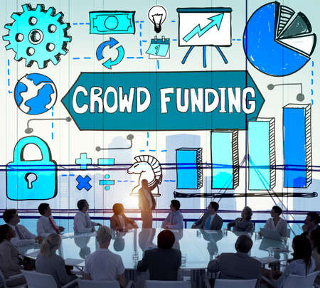 fundraising: Crowd Funding Finance Fundraising Concept