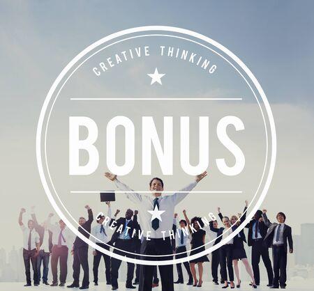 Beneficio bono incentivo adicional recompensa de dinero Concepto de Finanzas