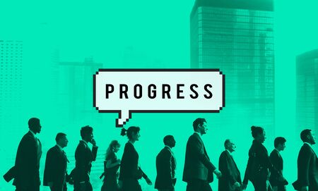 progression: Progress Progression Progressive Developement Concept