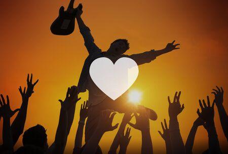 Love Like Passion Romantisch Genegenheid Devotion Joy Life Concept