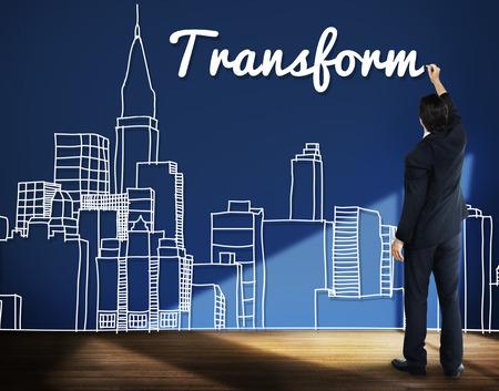 Transform Transformation Change Evolution Concept Archivio Fotografico