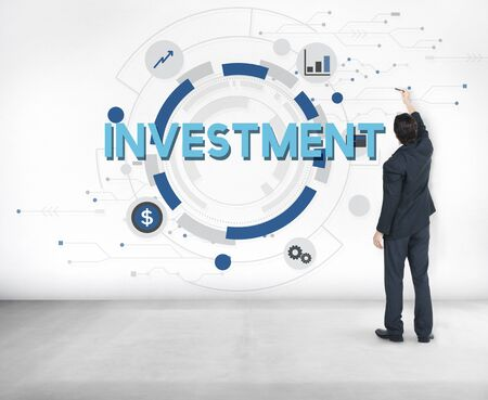 invest: Investment Invest Finance Money Budget Concept Stock Photo