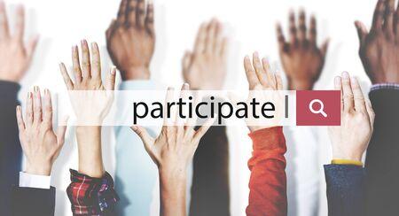 participate: Participate Collaboration Support Involved Concept
