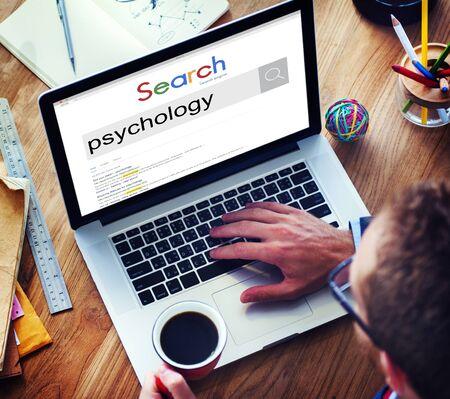 psique: Psicolog�a mental mentalidad mente el concepto de ciencia psique Foto de archivo