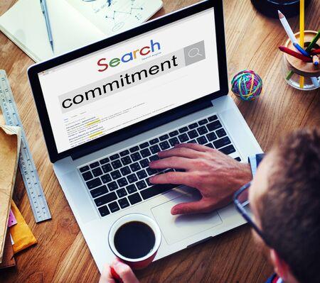 commitment: Compromiso de Cumplimiento devoci�n concepto de fidelizaci�n