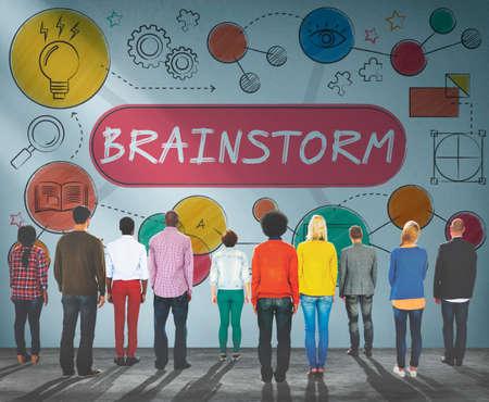 brainstorm: Brainstorm Ideas Creativity Process Diagram Concept