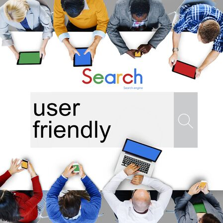 user friendly: User Friendly Accessible Usable Easy Member Concept
