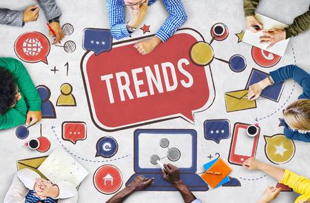 Trends Social Media Online Update Internet Concept