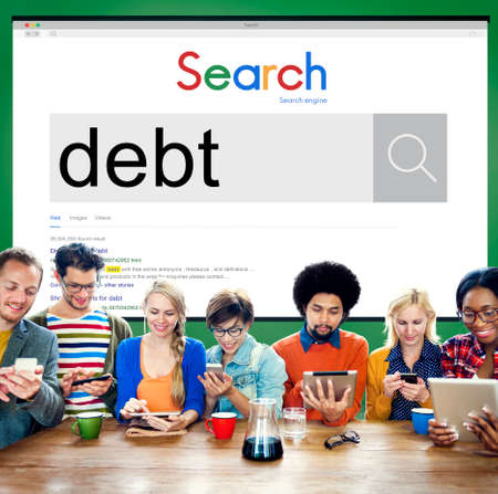 trouble: Debt Banking Money Mortgage Payment Trouble Concept