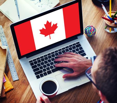 Kanada National Flag Business Communication Anschlusskonzept