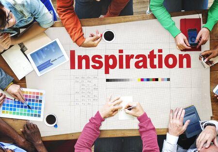 to innovate: Inspire Inspiring Inspiration Motivate Innovate Concept Stock Photo