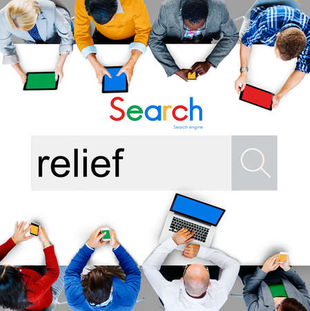 relieved: Relief Relax Removal Help Help Aid Assistance Pain Concept Stock Photo